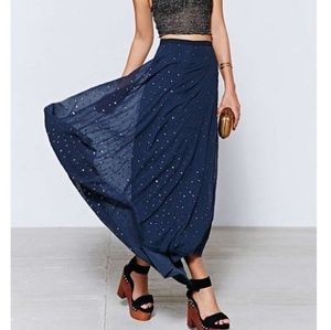 UO Kimchi Blue Twinkle High Low Maxi Sequin Skirt
